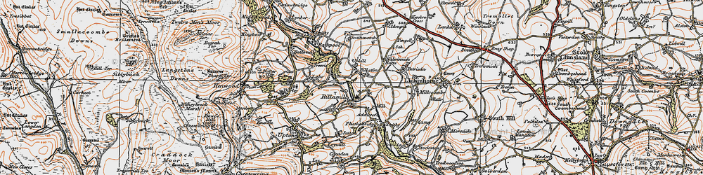 Old map of Rilla Mill in 1919