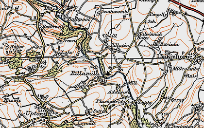 Old map of Rillaton in 1919