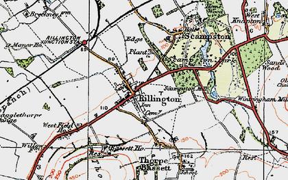Old map of Rillington in 1925