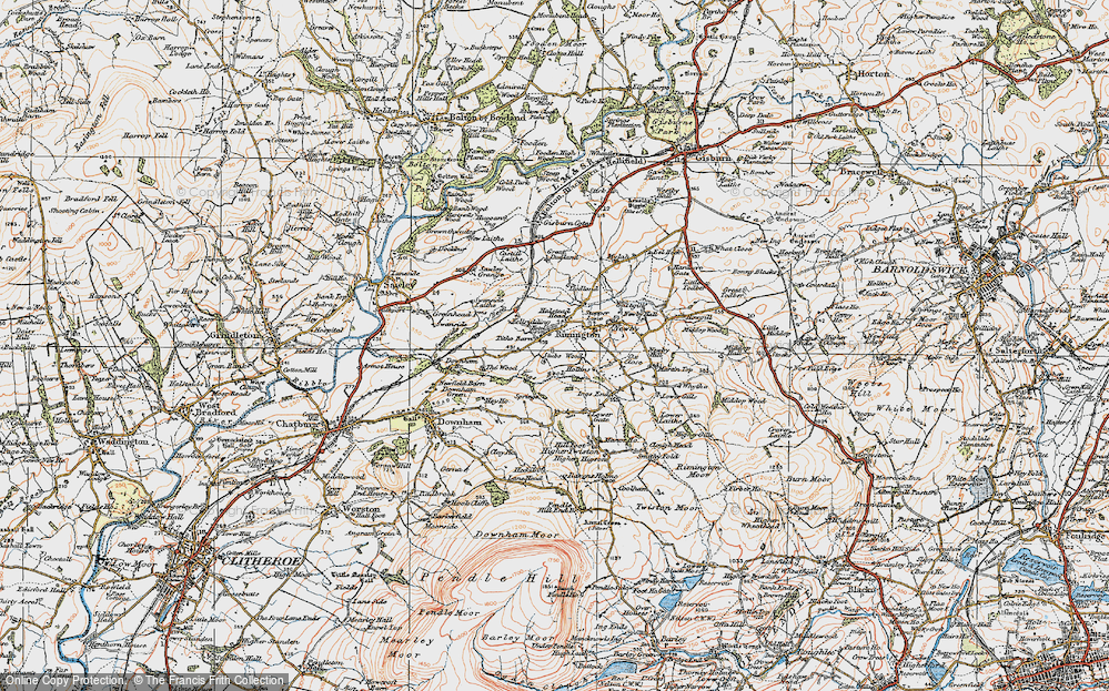 Old Map of Historic Map covering Wood, The in 1924