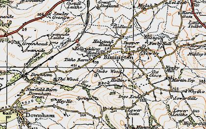 Old map of Rimington in 1924