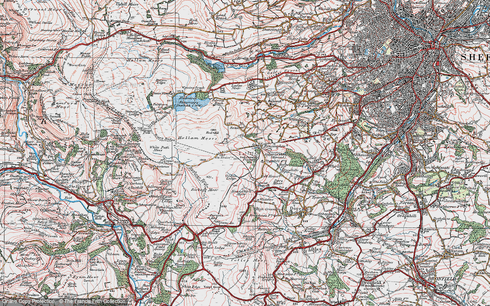 Old Map of Historic Map covering Whitelow in 1923