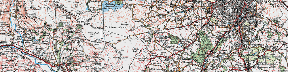 Old map of Whitelow in 1923