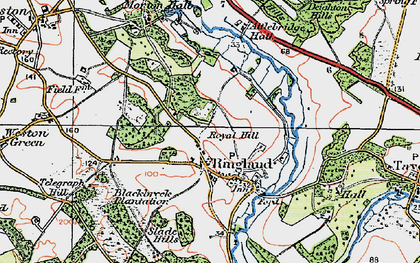 Old map of Attlebridge Hall in 1922