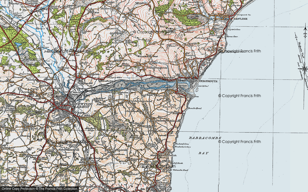 Old Map of Ringmore, 1919 in 1919