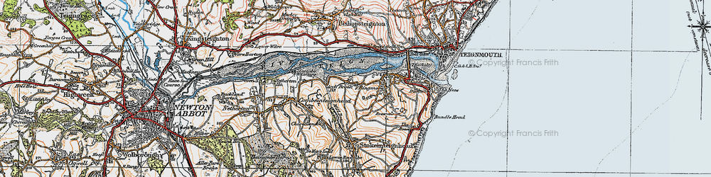 Old map of Ringmore in 1919