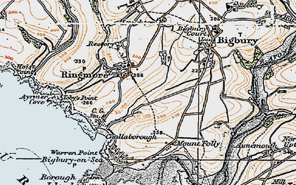Old map of Toby's Point in 1919