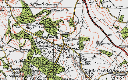 Old map of Ringshall in 1920