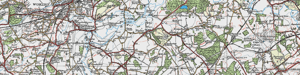 Old map of Ripley in 1920