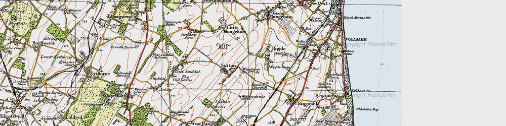 Old map of Ripple in 1920