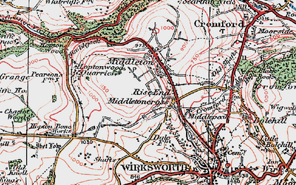 Old map of Rise End in 1923