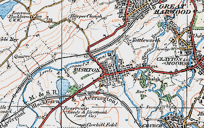 Old map of Rishton in 1924