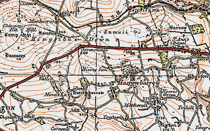 Old map of Rising Sun in 1919
