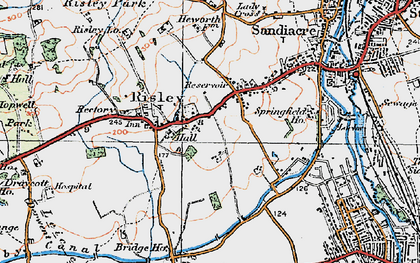 Old map of Risley in 1921
