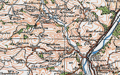 Old map of River Dart in 1919