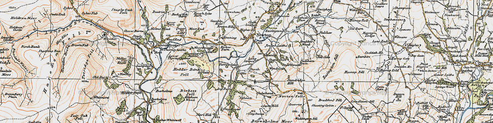 Old map of Windyates in 1924