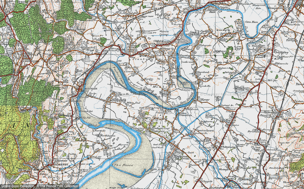 Old Map of River Severn, 1919 in 1919