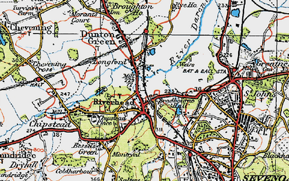 Old map of Riverhead in 1920