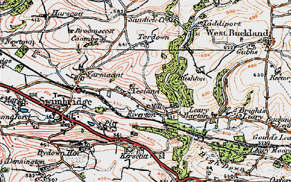 Old map of Yeoland Ho in 1919