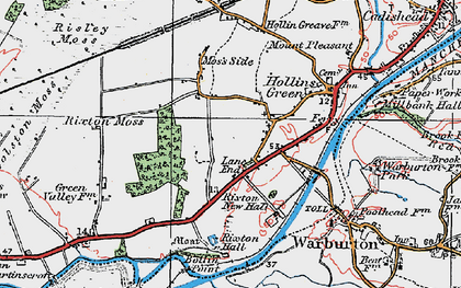 Old map of Rixton in 1923