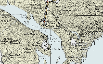 Old map of Roa Island in 1924