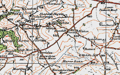 Old map of Wiston in 1919