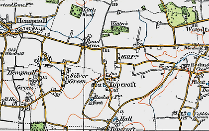 Old map of Winter's Grove in 1921