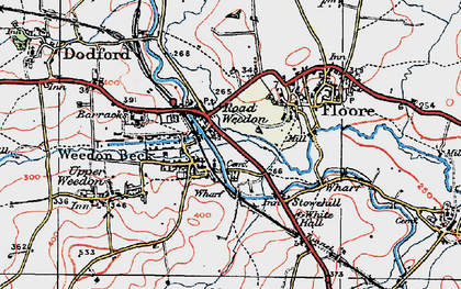 Old map of Road Weedon in 1919