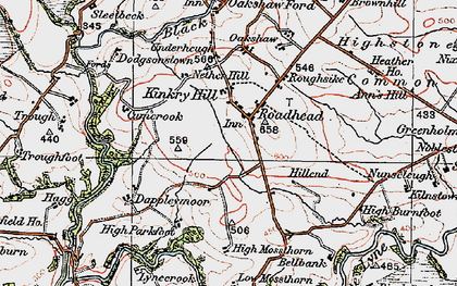 Old map of Whitberry Burn in 1925