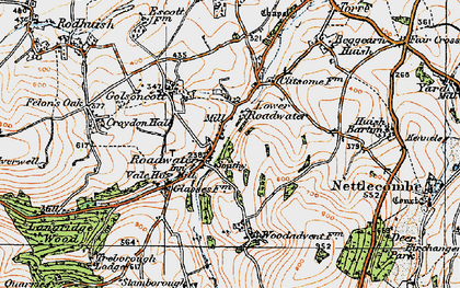 Old map of Roadwater in 1919