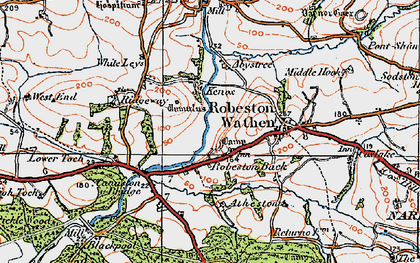 Old map of Abystree in 1922