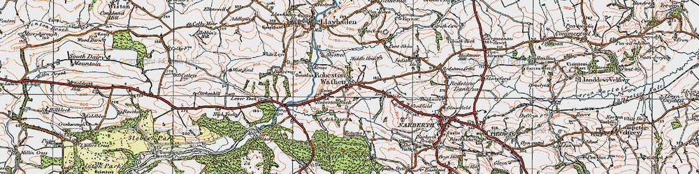 Old map of Woodfield in 1922