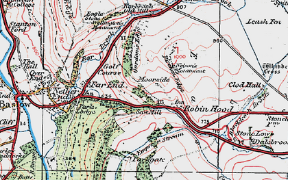 Old map of Robin Hood in 1923