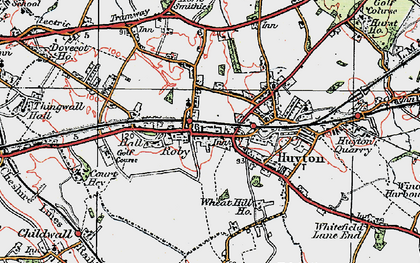 Old map of Roby in 1923
