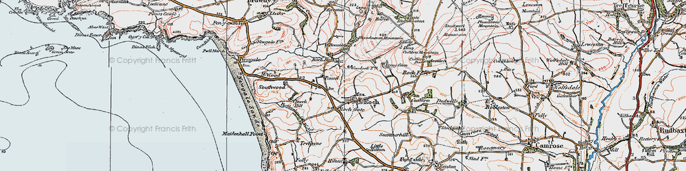 Old map of Roch in 1922