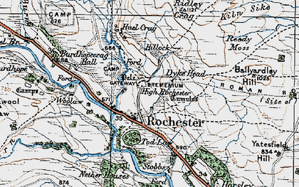 Old map of Ballyardley Hill in 1926