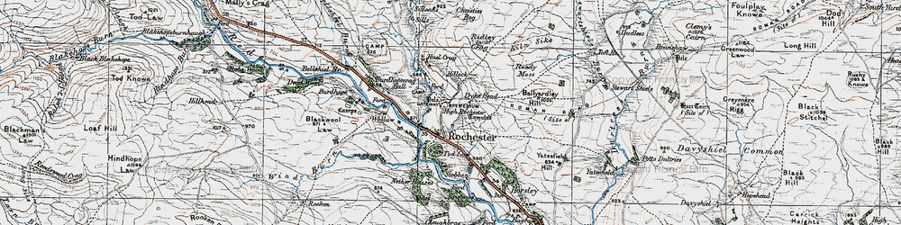 Old map of Woolaw in 1926