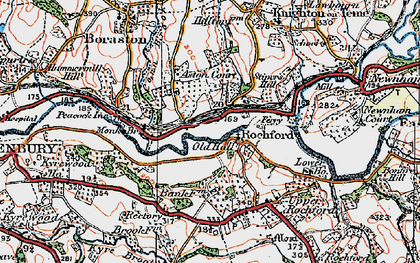Old map of Rochford in 1920