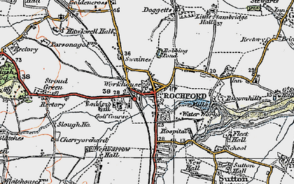 Old map of Rochford in 1921