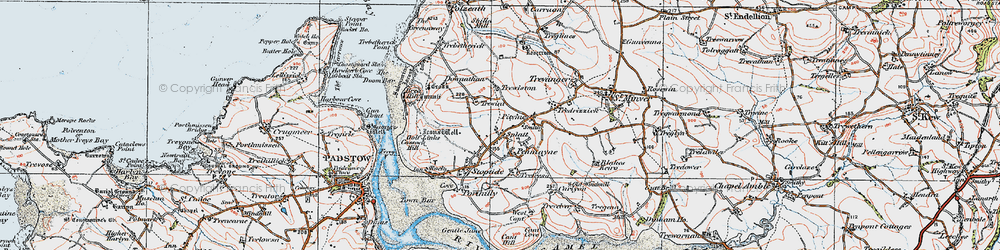 Old map of Rock in 1919