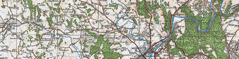 Old map of Amberley Court in 1919