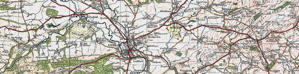Old map of Wigley in 1921
