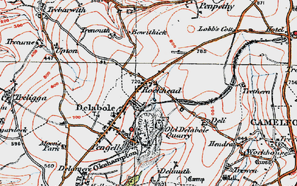 Old map of Rockhead in 1919