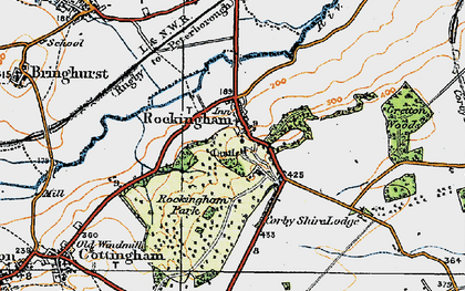 Old map of Rockingham in 1920