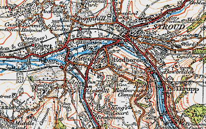 Old map of Rodborough in 1919