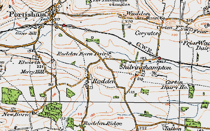 Old map of Wyke Wood in 1919