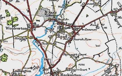 Old map of Rode in 1919