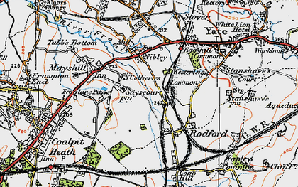 Old map of Westerleigh Common in 1919