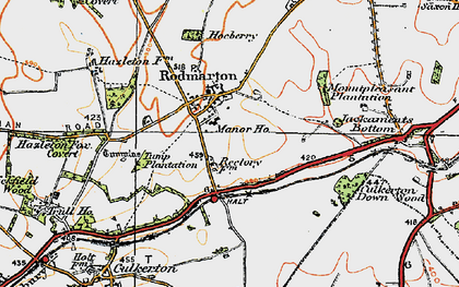 Old map of Windmill Tump (Long Barrow) in 1919