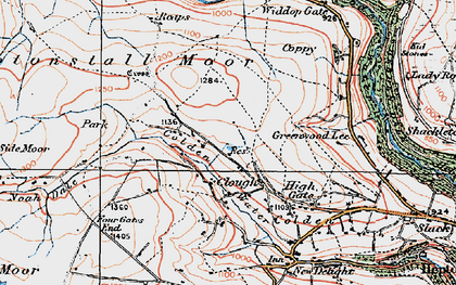 Old map of Alcomden Water in 1925